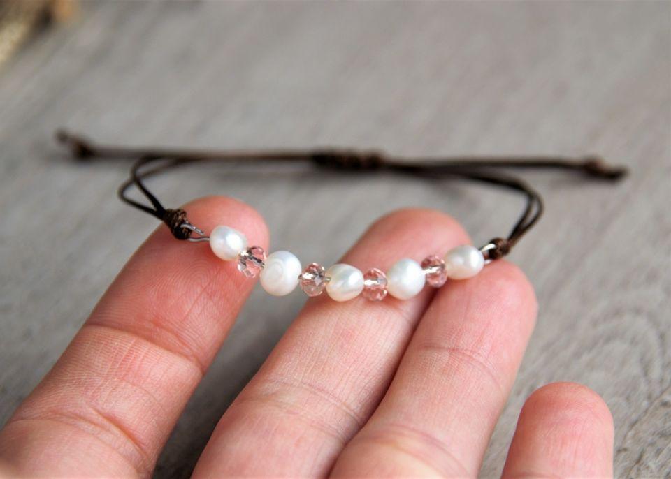 Гривна с перли и кристали